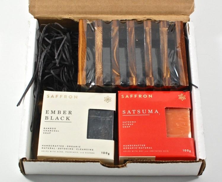 Saffron soap box