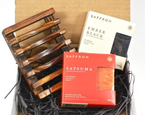 October 2015 Saffron soap box