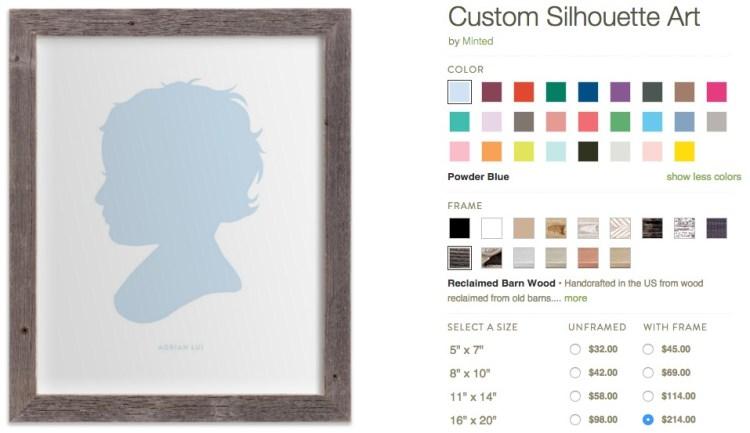 custom silhouette minted