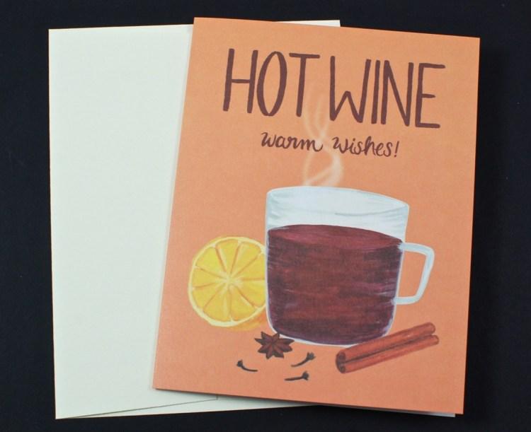 hot wine card