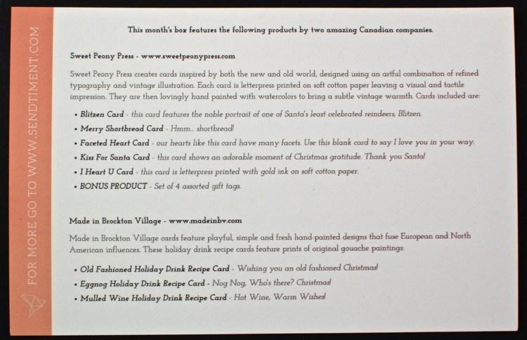 November 2015 CardBox review