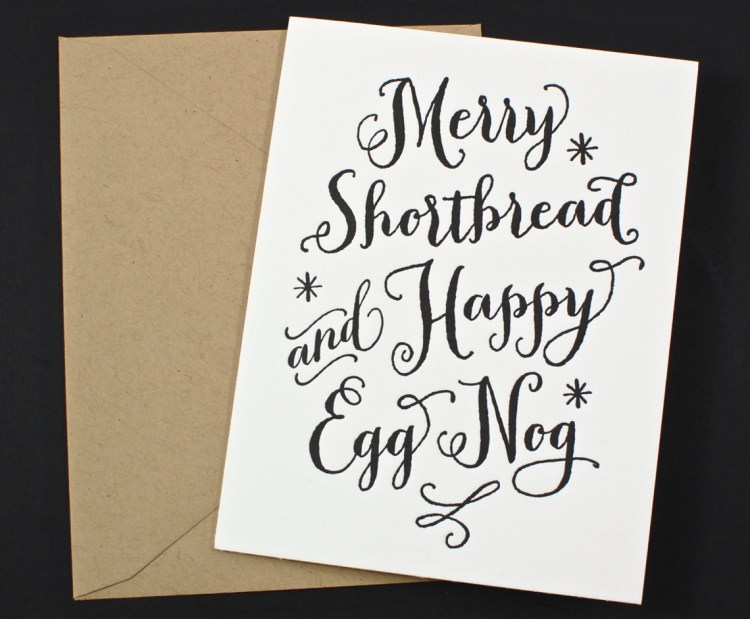 merry shortbread card