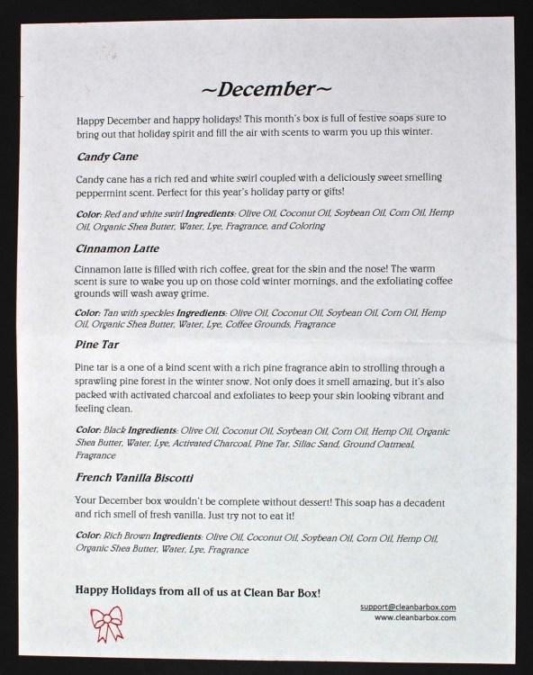 December 2015 Clean Bar Box