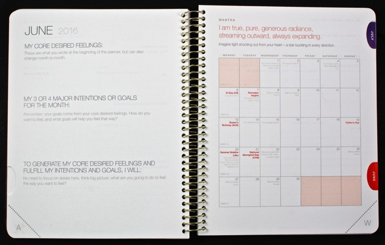 The Desire Map 2016 planner