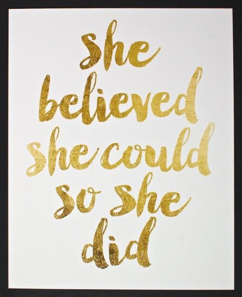 she believed print