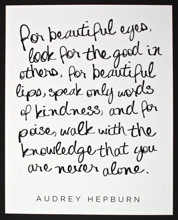 Audrey Hepburn quote print
