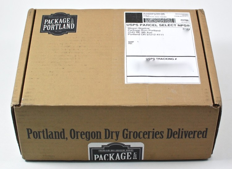Package from Portland box