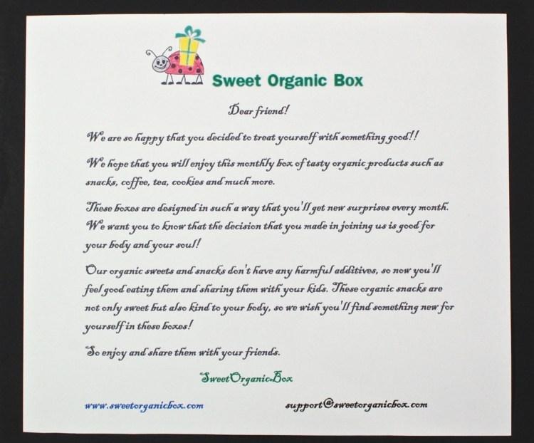 Sweet Organics Box