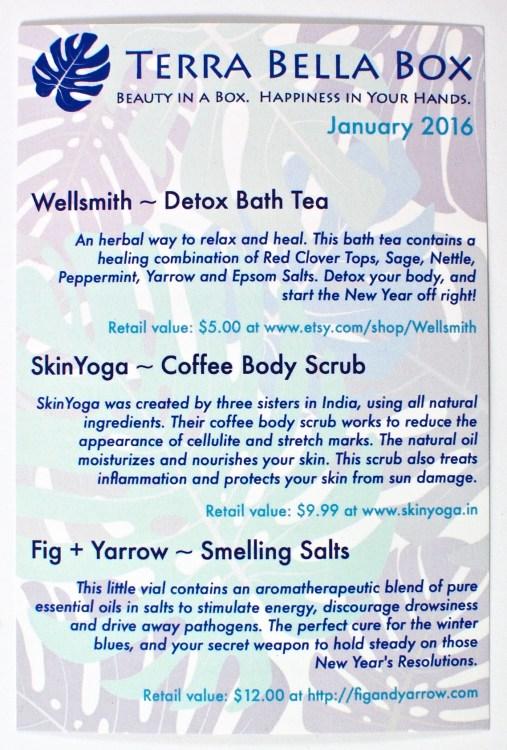 January 2016 Terra Bella Box