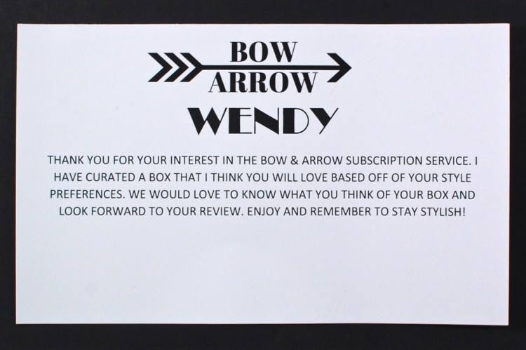 Bow and Arrow Boutique box