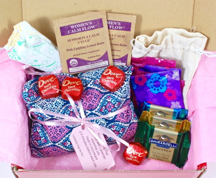 From Aunt Flo March 2016 Pamper Pack Review