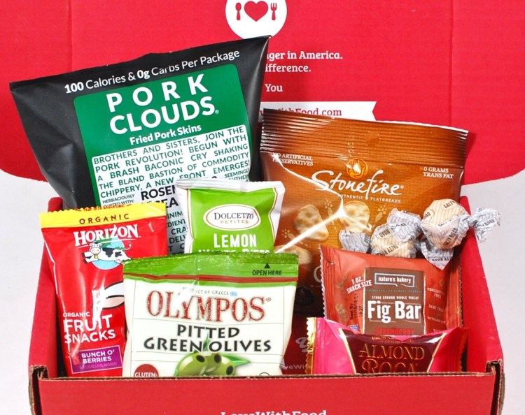 Love With Food March 2016 Review & First Box Only $7.99 Shipped