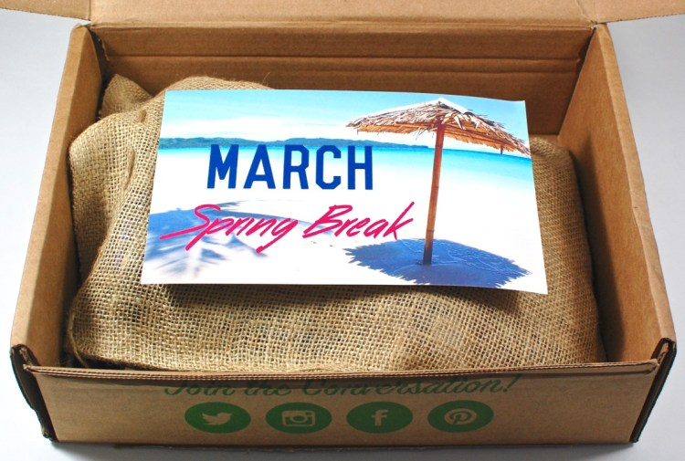 March 2016 Snack Sack