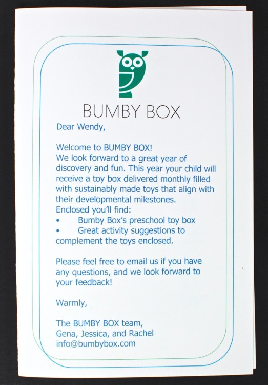 April 2016 Bumby Box