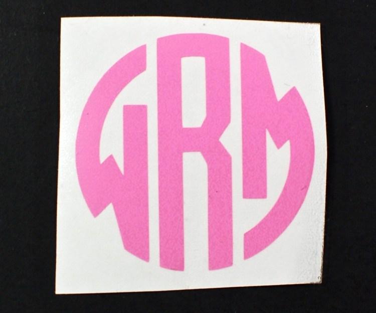 monogram sticker