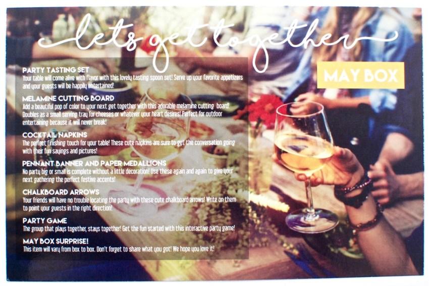 May 2016 Peaches & Petals box