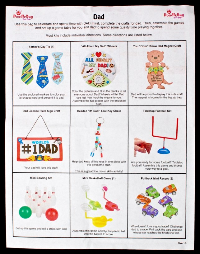 Doodlebug Busy Bag Father's Day