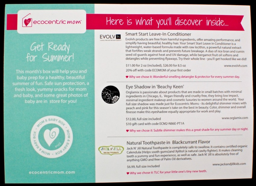 Ecocentric Mom June 2016 review