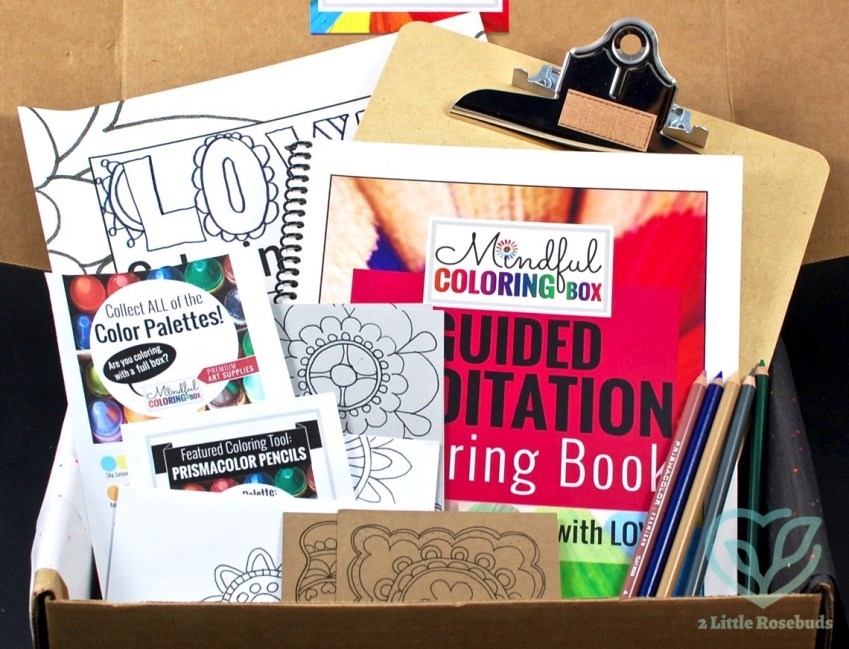 Mindful Coloring Box May 2016 Review & Coupon Code
