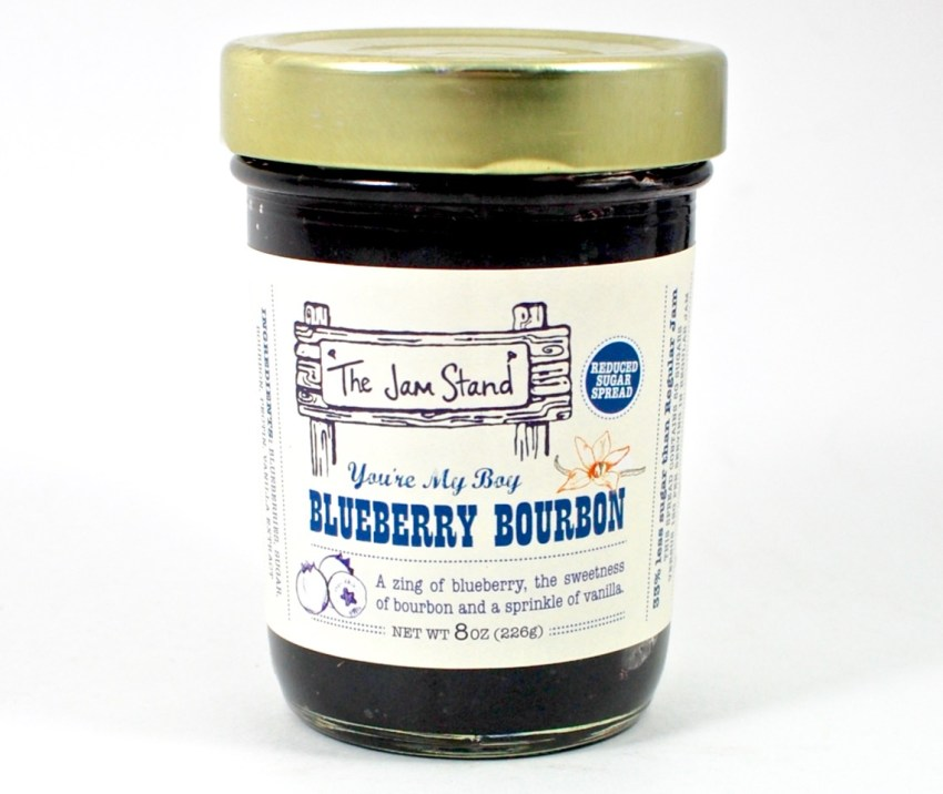 jam stand blueberry bourbon jam