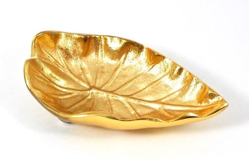 brass foliage dish