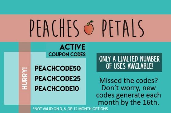 peaches & petals coupon code