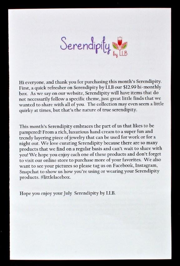 July 2016 serendipity box