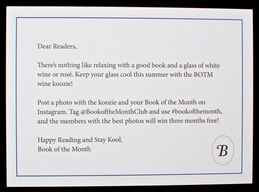 Book of the Month bonus
