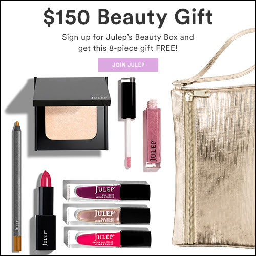 Julep FREE $150 8-Piece Beauty Gift with Subscription!