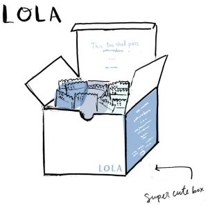 Lola free tampon subscription box
