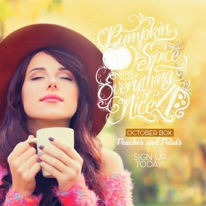 Peaches & Petals October 2016 Theme Reveal & Coupon Codes