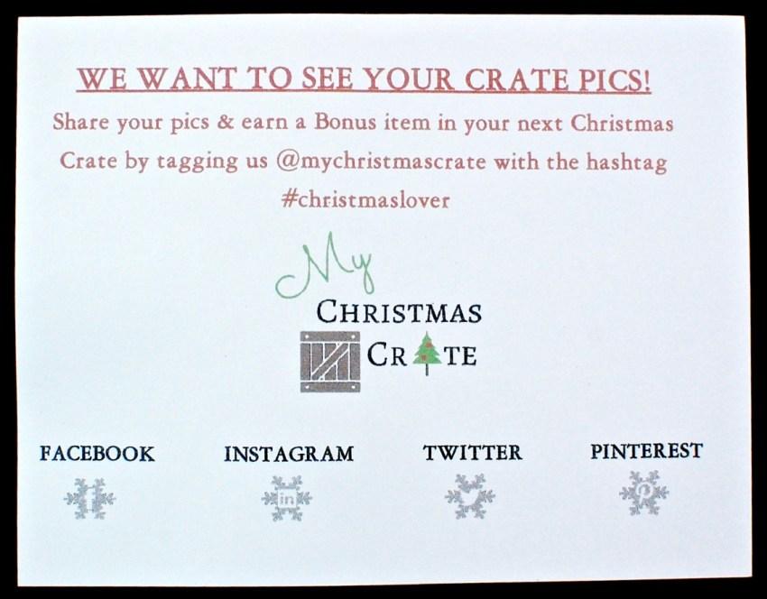 My Christmas Crate bonus