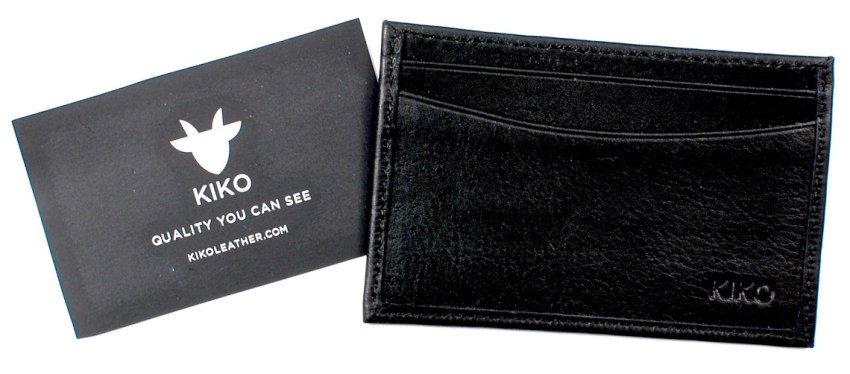 Kiko leather card case