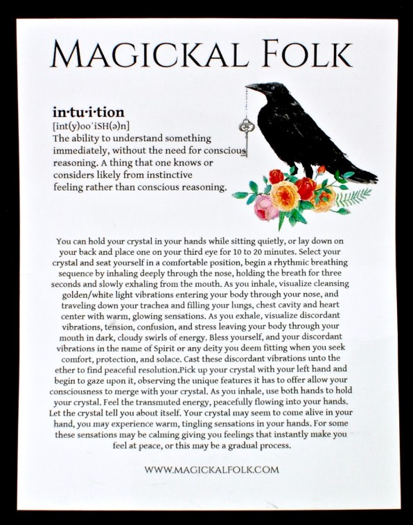 Magickal Folk intuitive exercise