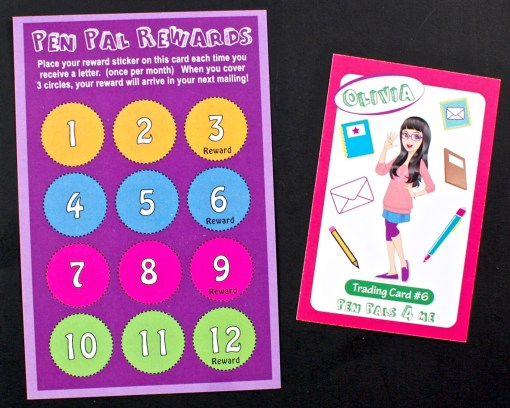 pen pals trading card