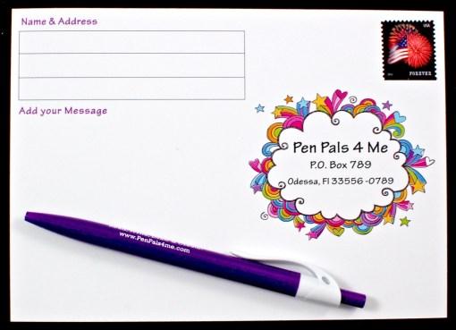 pen pals postcard