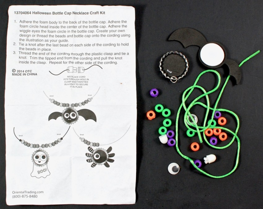 bat necklace craft