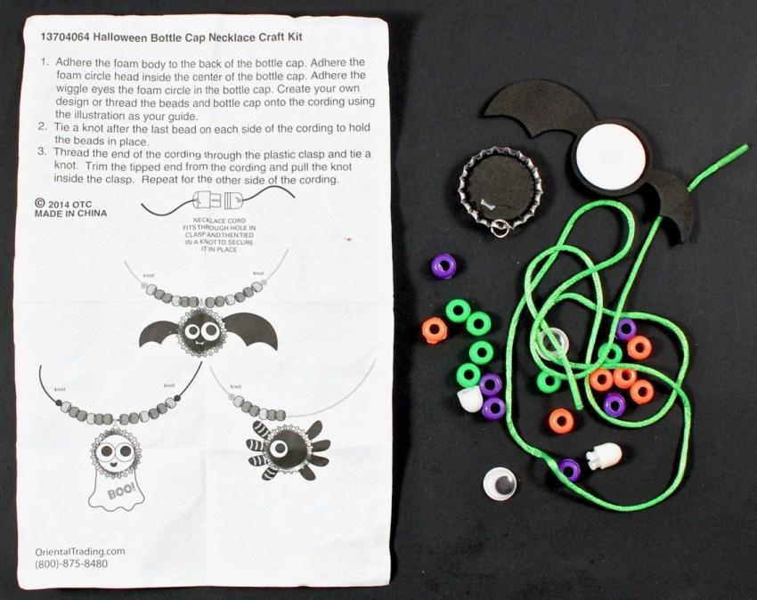 bat necklace craft