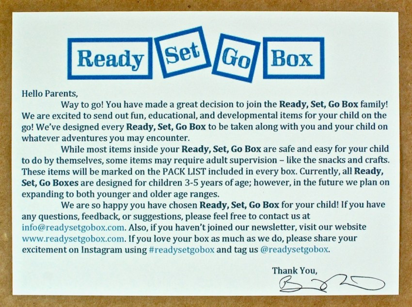 ready set go box review