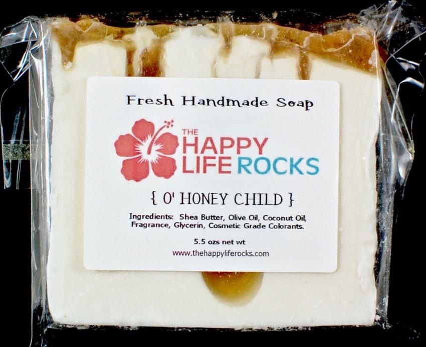 Happy Life Rocks soap