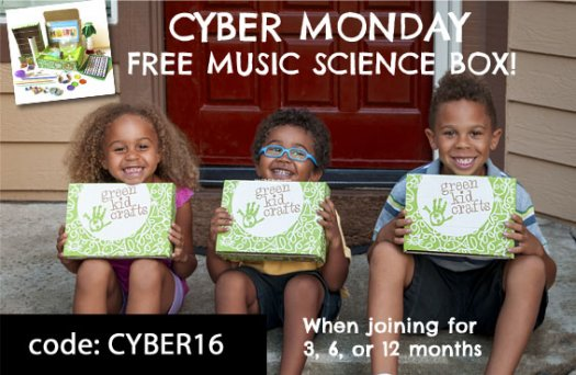 Green Kid Crafts FREE Box with 3-Month or Longer Subscription