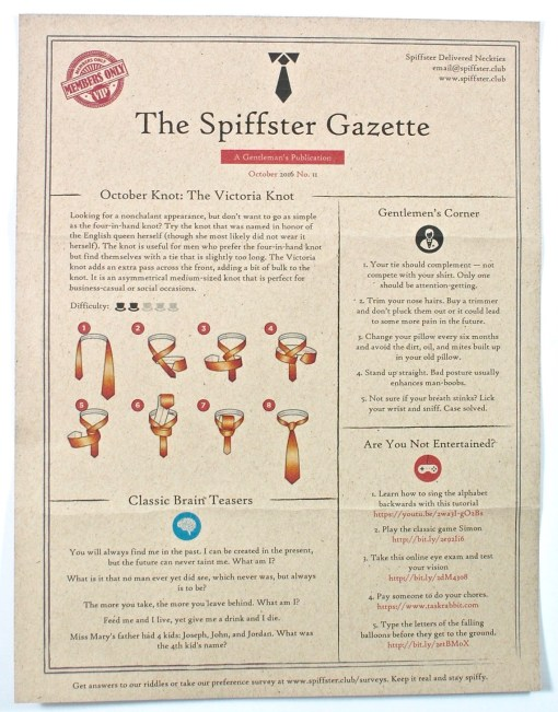 Spiffster Gazette