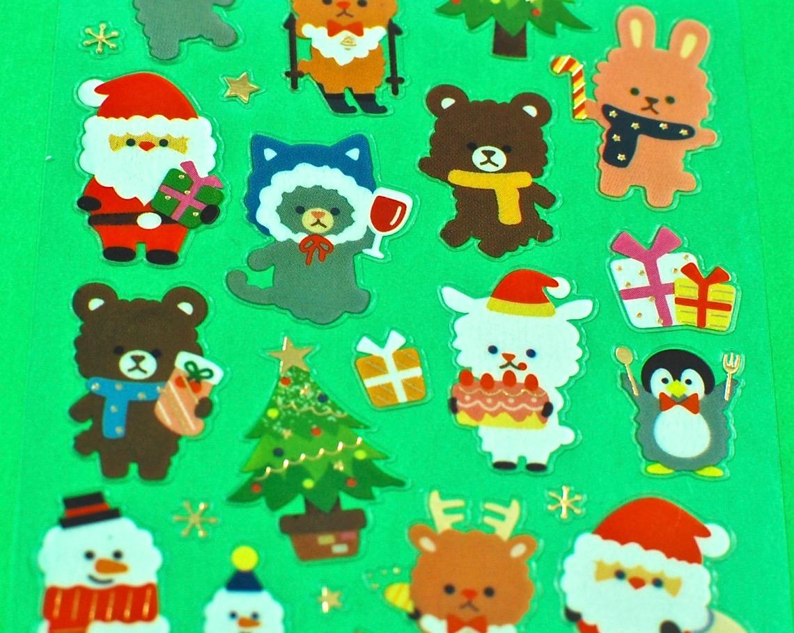 kawaii holiday stickers