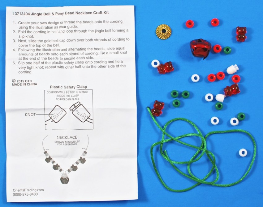 Christmas necklace craft