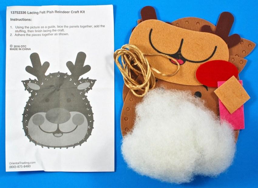 plush reindeer craft