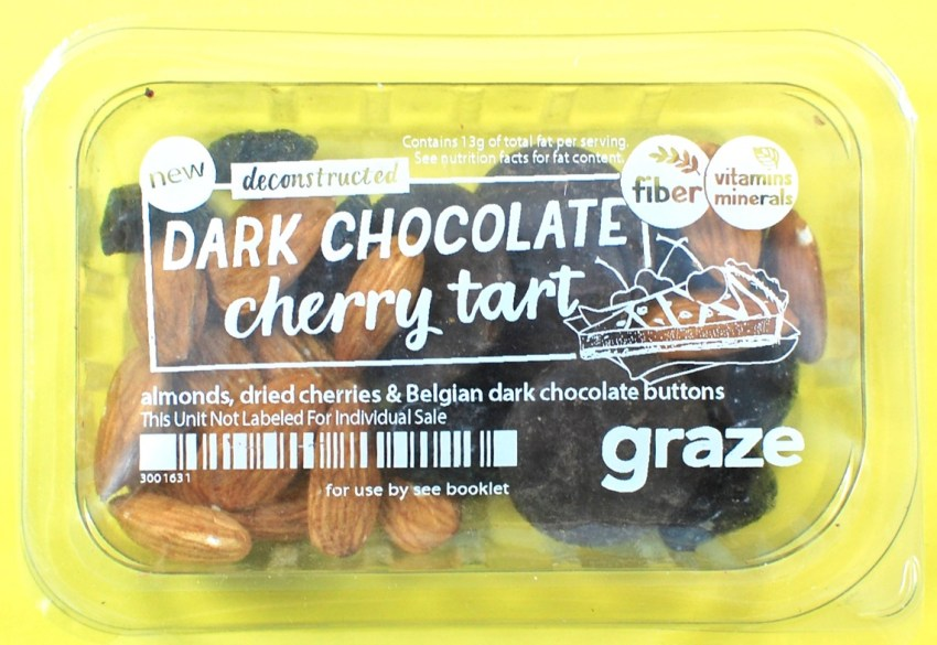 chocolate cherry tart graze