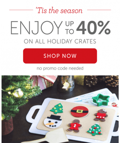 Kiwi Crate – 40% Off All Holiday Crates (While Supplies Last!)