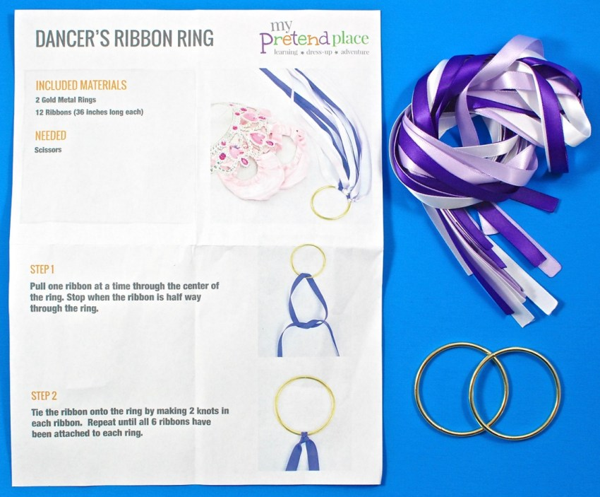 DIY dancer's ribbon ring