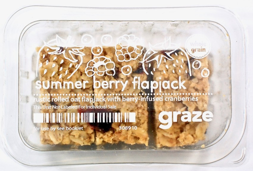 Graze summer berry flapjack