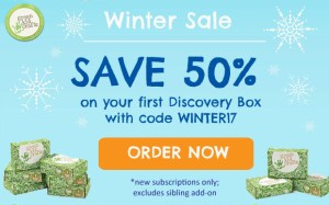 Green Kid Crafts Winter Sale – 50% Off First Box!
